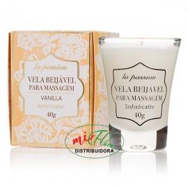 La Passion Vela Beijável Para Massagem Vanilla 40g