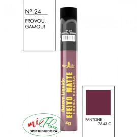 Batom Líquido Matte Nº 24 Provou, Gamou!
