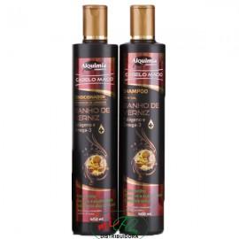 Shampoo + Condicionador Banho de Verniz Colágeno e Ômega 3