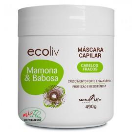 Máscara Capilar Ecoliv Mamona Com Babosa 490g