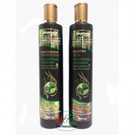 Shampoo + condicionador Mamona e Argan