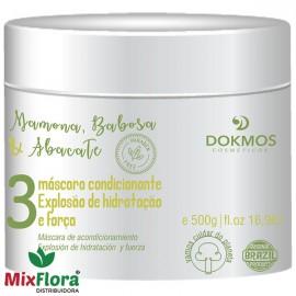 Máscara Capilar Mamona, Babosa & Abacate 500g Dokmos