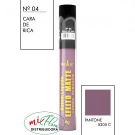 Batom Líquido Matte Nº 04 Cara De Rica