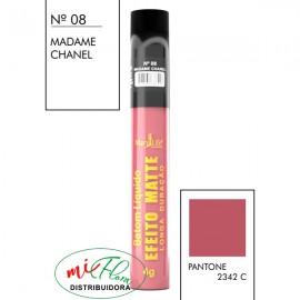 Batom Líquido Matte Nº 08 Madame Chanel