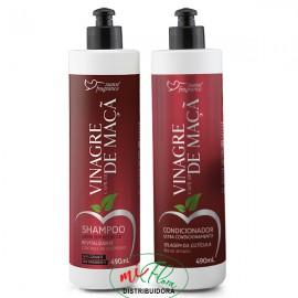 Shampoo + Condicionador Vinagre Capilar de Maçã Suave Fragrance