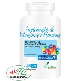 Suplemento de Vitaminas e Minerais 30g - 60 Cápsulas