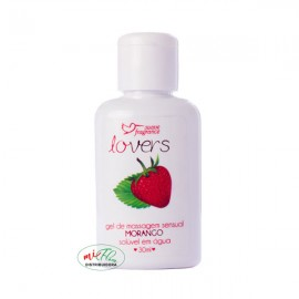 Lover's Gel de Massagem Sensual Morango 30mL