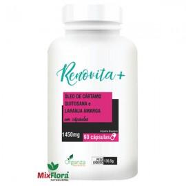 Renovita + Óleo de Cártamo + Quitosana e Laranja Amarga - 90 Cápsulas