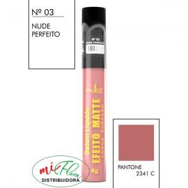 Batom Líquido Matte Nº 03 Nude Perfeito