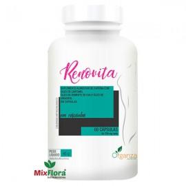 Renovita Cártamo + Cafeína + Cromo + Óleo de Girassol + Óleo de Semente de Uva 60 Cápsulas