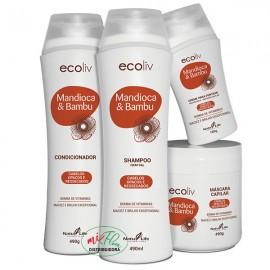 Kit Capilar Ecoliv Mandioca & Bambu
