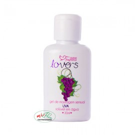 Lover's Gel de Massagem Sensual Uva 30mL