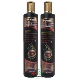 Shampoo + Condicionador Cabelo Macio Mandioca e Óleo de Coco