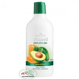 Shampoo Vitabell Abacate e Mel 500mL