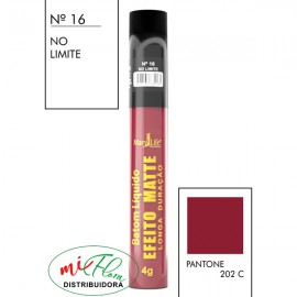 Batom Líquido Matte Nº 16 No Limite